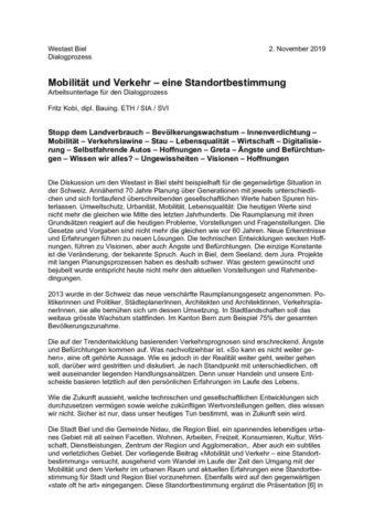 thumbnail of 2019.11.04 Bericht Standortbestimmung Mobilität und Verkehr_de